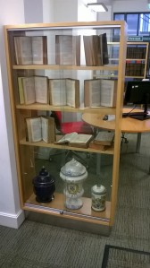 UCL School of Pharmacy Library display case